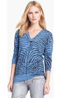Michael by Michael Kors Print V-neck Sweater - Lyst
