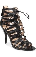 Nine West Kenie Leather Cage Sandals - Lyst