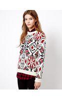 Pull&Bear Jacquard Sweater - Lyst