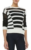 Rebecca Taylor Intarsia Longsleeve Striped Knit Pullover - Lyst