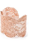 Aurelie Bidermann Rose Goldplated Lace Cuff - Lyst