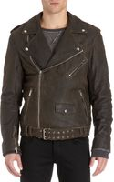 Lot78 Distressed Moto Jacket - Lyst