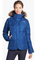 The North Face Keats Down Delux Faux Fur Trim Jacket - Lyst