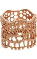 Aurelie Bidermann Rose Gold Lace Ring - Lyst