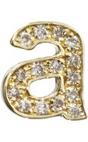 Jennifer Meyer Diamond Lowercase A Stud Earring - Lyst