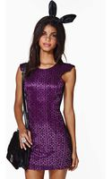 Nasty Gal Nightfall Lace Dress - Lyst