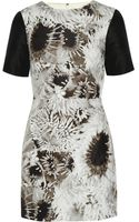 Tibi Athena Printed Silk Linen and Cottonblend Mini Dress - Lyst