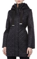 Elie Tahari Mary Kate Puffer Coat Black - Lyst