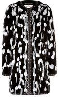 Emilio Pucci Feather Embellished Fur Coat - Lyst
