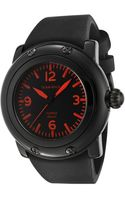 Glam Rock Miami Beach Black Dial Black Silicone Glamrock Watch - Lyst