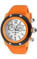 Glam Rock Womens Miami Beach Chrono White Dial Orangeblack Resin Case Orange Silicone Glamrock Watch - Lyst