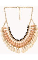 Forever 21 Worldly Beaded Bib Necklace - Lyst