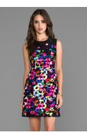 Milly Graffiti Flowers Dress in Black - Lyst