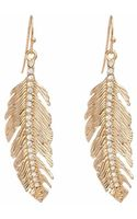 Piper Strand Feather Rhinestone Earrings - Lyst