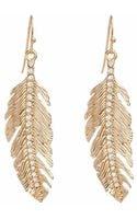 Piper Strand Feather Rhinestone Earrings - Lyst