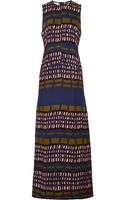 Marni Printed Crepe Maxi Dress - Lyst