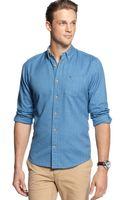 Tommy Hilfiger Slim Fit Rocco Hbone Shirt - Lyst