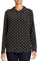 Equipment Adele Polka Dot Washed Silk Blouse - Lyst