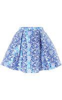 Glamorous Floral Skater Skirt - Lyst