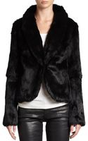 Haute Hippie Fur Shawl Collar Jacket - Lyst
