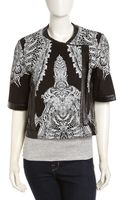 Helmut Lang Urchinprint Sweatshirt Jacket Blackgray - Lyst