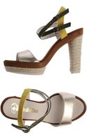 Espadrilles heels sandal heels platform heels high heels - Lyst