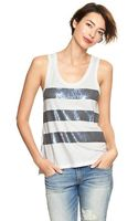 Gap Sequin stripe Tank - Lyst