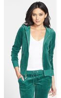 Juicy Couture Velour Zip Hoodie - Lyst