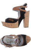 Replay Platform Sandals - Lyst