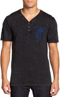 Affliction Signature Logo Henley Tee - Lyst