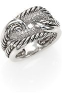 David Yurman Pavé Diamond Sterling Silver Ring - Lyst