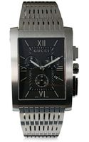 Gucci Stainless Steel Rectangular Chronograph Dial Watchblack - Lyst