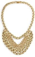 Janis Savitt Crystal Multirow Bib Necklace - Lyst