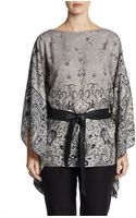 Lafayette 148 New York Wool Silk Blouse - Lyst