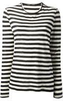Proenza Schouler Striped Long Sleeve Tshirt - Lyst