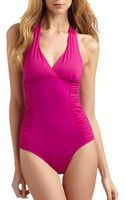 Spanx Halter One Piece Swimsuit - Lyst