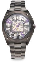 Ted Baker Skeleton Dial Stainless Steel Watch - Lyst