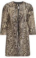 Valentino Leopard-print Calf Hair Coat - Lyst