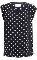 3.1 Phillip Lim Polka Dot Silk Blouse - Lyst