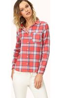 Forever 21 Laid Back Plaid Shirt - Lyst
