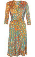Issa Gather Waist Silk Jersey Dress - Lyst