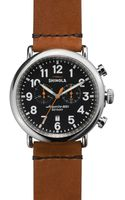 Shinola The Runwell Chronograph Tan Strap Watch 47mm - Lyst