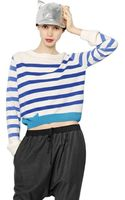 Cats By Tsumori Chisato Striped Wool Blend Sweater - Lyst