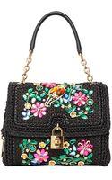 Dolce & Gabbana Medium Dolce Embellished Top Handle Bag - Lyst
