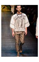 Dolce & Gabbana Zeus Printed Cottonlinen Blend T-shirt - Lyst