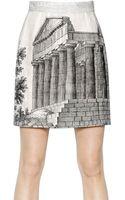 Dolce & Gabbana Linen Canapone Skirt - Lyst