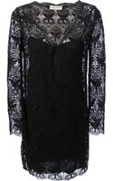 Emilio Pucci Long Sleeve Lace Dress - Lyst