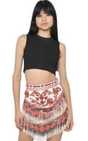 Emilio Pucci Viscose Knit Crop Top - Lyst