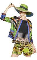 Etro Pleated Printed Silk Jacket - Lyst