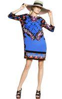 Etro Printed Silk Cady Dress - Lyst